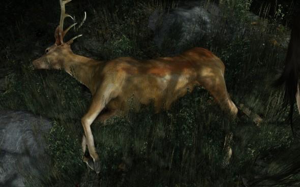 La chasse en trois étapes : un estomac qui gargouille, un arc et un cerf.