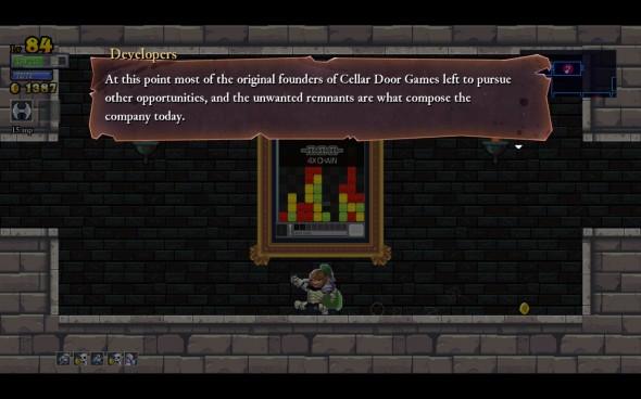 Le jeu est bourré de salles cachées. Certaines contiennent même des anecdotes des développeurs !