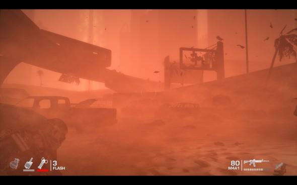 Combattre et se déplacer dans une tempête de sable, c'est bon pour l'immersion.