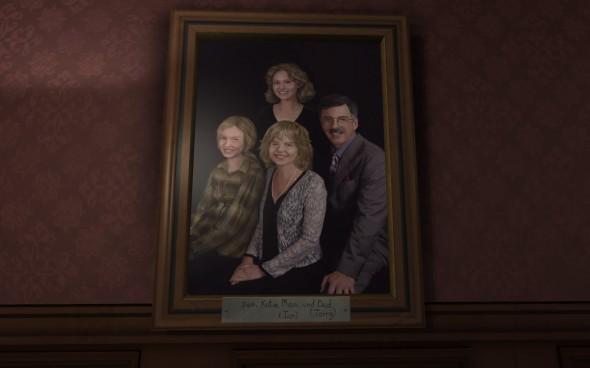 Un tableau avec toute la famille vous accueille...