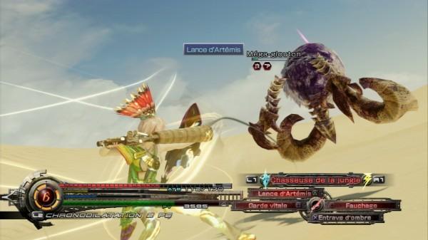 Le système de combat, inspiré de FFXIII, FFX-2 et Valkyrie Profile.