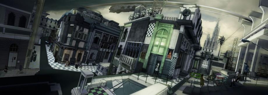 Un artwork de Luxerion, une des régions principales de cet épisode.