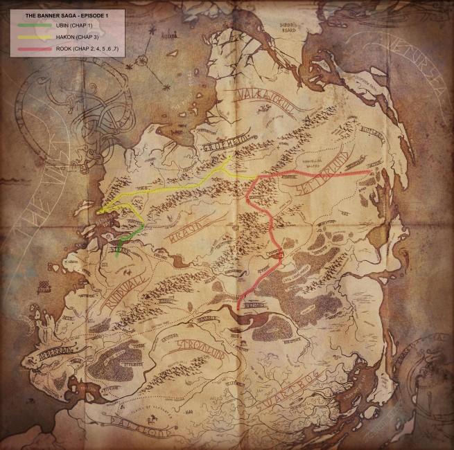 The Banner Saga - episode 1 - world map