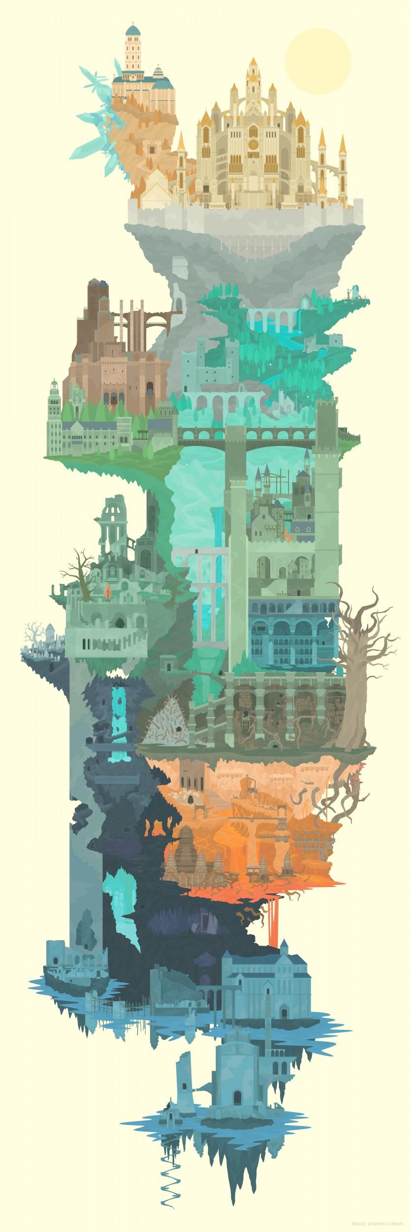 La verticalité de Lordran, vue par Judson Cowan.